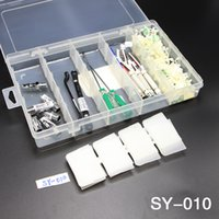 Wholesale hook assembly - 1Pc High Quality Hook-type Drop-resistant Parts Box SY-010 Component Case Plastic Assembly Type 25 Grid
