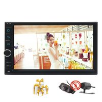 Wholesale 12v reversing camera - Front & Reverse Camera+Android 7.1 Octa Core Car Stereo System HD 1024*600 Touchscreen 3D GPS Navigation 7inch Radio Bluetooth map USB SD