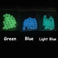 ingrosso luci al quarzo-6mm 8mm quarzo terp perle Dab Insert luminoso blu verde chiaro blu chiaro quarzo perla per il quarzo Banger chiodi bong di vetro Dab Rigs