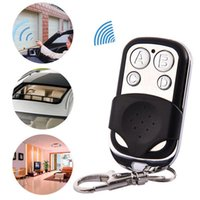 Wholesale universal gate remote clone - Universal 4-Button Wireless Auto Remote Control Cloning Electric Gate Garage Door 433MHZ Wireless Key Keychain car Remote Control GGA67