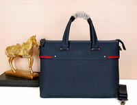 ingrosso valigetta per uomini d'affari-Borsa da uomo borsa da ufficio o business bag di alta qualità di alta qualità in vera pelle di lusso marche uomo borse in stile classico taglia 39 * 29 * 7 cm