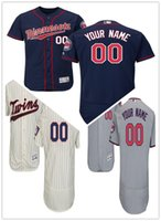Wholesale Custom Twin - custom Men's women youth Majestic Twins Jersey #00 Any Your name and your number Home Red Kids Girls Throwback Baseball Jersey