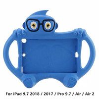 ipad luftkarikaturabdeckung großhandel-Für iPad 9.7 2018/2017 / Pro 9.7 / Air 2 / Mini iPad Air Kinder Fall Niedlichen Cartoon Stoßfest EVA Schaum Stand Hülle