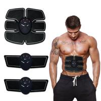 ingrosso cintura del corpo perdita di peso-EMS Wireless Muscle Stimulator Smart Fitness Dispositivo di allenamento addominale Elettrico Autoadesivi per perdere peso Corpo che dimagrisce cintura Unisex J1755
