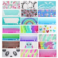 Wholesale macbook air skin decal resale online - Silicone Soft Decal Prints Keyboard Cover Skin Protective Film Protector for Macbook Air Pro Retina