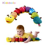 bebek müzikli hayvan toptan satış-Bebek Oyuncakları Müzikal Şeyler Ile Caterpillar Tırtıl Çan Sevimli Karikatür Hayvan Peluş Bebek Erken Öğrenme Eğitim Çocuk Oyuncakları