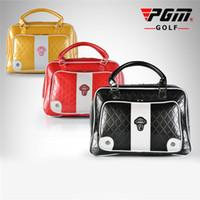 PGM Golf Bags Golf Travel Bag PU Leather Waterproof Dustproof High Capacity  Golfs Travel Shoes Bag Golfs Clothing Bags for Women ce81b4a09a