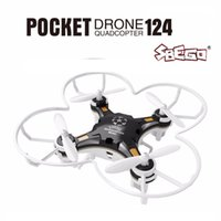 Wholesale rc helicopter micro - SBEGO FQ777-124 Mini Drone Micro Pocket 4CH 6Axis Gyro Switchable Controller RC Helicopter Kids Toys VS JJRC H37 H31 Quadcopter