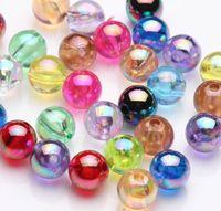 WHOLESALE 100pcs beautiful Round acrylic beads 8mm,,4mm jewelry making