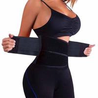 corsé de soporte de cintura al por mayor-Nueva Llegada Cinturón Deportivo Mujeres Entrenador de Cintura Elástica Deporte Fitness Tummy Corset Body Shaper Cinturón Soporte de Cintura Poliéster + Spandex Y1892612