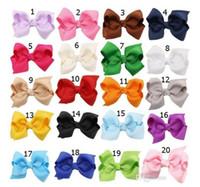 корейский зажим для галстука оптовых-Горячая распродажа корейский 3 дюйма Grosgrain ленты Hairbows Baby Girl Аксессуары с зажимом бутик для волос луки заколки для волос HD3201