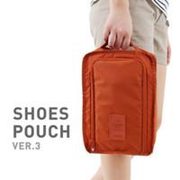 zapatos plegables portátiles al por mayor-Bolsa de viaje portátil de nuevo diseño, bolsas de cosméticos plegables, bolsa de zapatos plegable, bolsa de lavado impermeable multifuncional, bolsas de zapatos Beach Tour