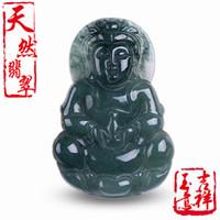 joyas de jade natural al por mayor-Jadeíta natural de Myanmar jadeíta Quan yin colgante de jade colgante de joyería de jade accesorios
