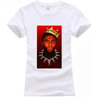 31f4a7399 Notorious B.I.G Pantera Negra HOT T-shirt preto em T-shirt denim roupas camiseta  camiseta blusão gato Pug tshirt