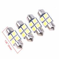 innenkuppel hellblaue glühbirnen großhandel-31MM-41MM 4SMD Auto-Innenhaube-Girlande LED-Glühlampen-Lampe Weiß DC 12 V-Innentür-Lampen-Kfz-Kennzeichen