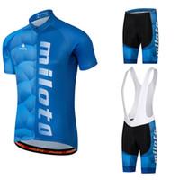 outdoor-trikots großhandel-MILOTO 2018 Team Pro Radtrikot Reflektierende Maillot Ropa Ciclism Männer Fahrrad Jersey Radfahren Tuch 12D Pad Im Freien Jersey