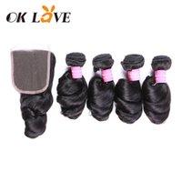 gevşek örgü saç uzantıları toptan satış-Perulu Saç Örgü Demetleri Gevşek Dalga Demeti Fırsatlar 3 Adet Doğal Renk İnsan Saç Paketler Remy Saç Uzantıları