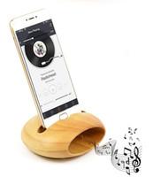 ingrosso stazione di ricarica di bambù-Supporto per telefono cellulare mobile di bambù dell'amplificatore del suono dell'amplificatore del suono di legno ecologico Supporto universale del telefono Stazione di caricamento di legno del bacino del desktop