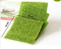 ingrosso paesaggio verde del prato inglese-Artificiale Fake Moss Decorativo Prato Micro Paesaggio Decorazione FAI DA TE Mini Fata Giardino Piante di Simulazione Erba Verde Erba 15x15 cm Piccola Dimensione