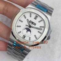 Wholesale Mps Watches - Mens High Quality Business Luxury MP Factory Automatic ETA CAL.324 5726 1A 24H Nautilus 316l stainless steel white dial Stopwatch Watches