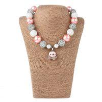 rosa diamant anhänger großhandel-Mädchen Rosa Kürbis Halskette Kinder Halloween Diamant Charms Halsketten Anhänger Schmuck Zubehör Für Mädchen Geburtstagsgeschenk