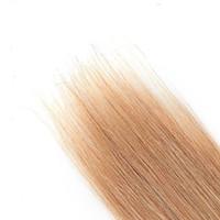 haarfarbe 27 erdbeerblondine großhandel-gutes Paket brasilianische gerade Haar-Verlängerungen 100% Menschenhaar Webart 6a # 27 Erdbeere blonde Farbe Remy Haar weben 10-30 Zoll