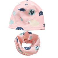 Otoño Invierno Crochet Baby Hat Set Girl Boy Cap Kids Gorros Animal Print  Hats Algodón Niños Collar Bufanda Baby Caps Child Cap 8e43a17aeb9