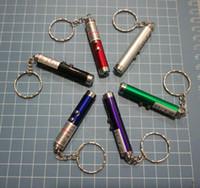 кольца для игрушек оптовых-DHL Красный лазерная указка ручка брелок с белым светодиодные шоу портативный инфракрасный Stick Смешные кошки игрушки для животных Оптовая