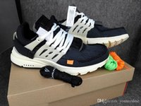Wholesale Newest Designer Sneakers - Newest 2018 The Ten Air Presto X Virgil Abloh Designer Off Sports Brand Sportswear Sneakers White Black Outdoor Casual Shoes With Box