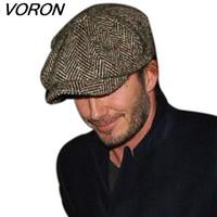 Wholesale beret hats males for sale - Group buy VORON Fashion Octagonal Cap Newsboy Beret Hat Autumn And Winter Hats For Men s International Superstar Jason Statham Male Models
