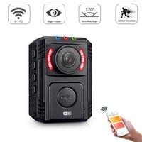 voiture mini dv achat en gros de-1080P Mini DV Caméra de corps de police de vision nocturne WiFi sans fil avec téléphone App pour voiture DVR application de la loi enregistreur vidéo Sport caméra