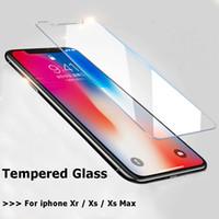 película de pantalla del teléfono móvil al por mayor-9H ultrafino de vidrio templado para iPhone Xs Max Xr Xs 5.8 / 6.1 / 6.5 Protector de pantalla de película Película para teléfono móvil