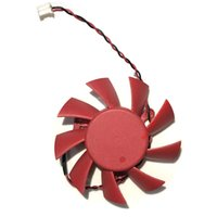 Wholesale graphics video card cooling fan resale online - Graphics Card Fan Computer Cooler Fans For ASUS HD5770 HD Video Card cooling mm DC V AMP Wire