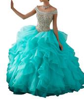 vestido de fiesta al por mayor-Amazon Hot-selling Pink Prom Dresses Blusa Heavy Hecho a mano Poppet Skirt Ogan Yarn Lotus Leaf Side Sleeve Back Tie-tail Paquete barato