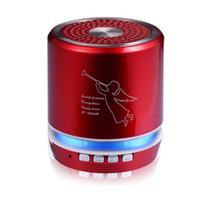 motif radio achat en gros de-Mode Point T-2308A Ange Motif Mini Protable Bluetooth Haut-parleurs Sans Fil Soutien TF Carte VS T-2020A Haut-Parleur point chaud