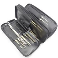 bolsa de juego de selección de bloqueo al por mayor-GOSO Titanize 20pcs Hook Picks w / Bag herramienta de cerrajería Goso Lock Pick Set Lockpick herramientas de cerrajería