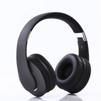 falten usb headset großhandel-HiFi-Headset Klappbares Bluetooth-Headset Bilaterales Stereo-Computer-Telefon Universal Wireless TF-Karte mit Mikrofon Headset Wired Wireless Int