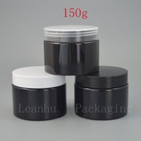 Wholesale refillable jar bottles for sale - Group buy Black Plastic Cream Bottle Empty Cream Jars Cosmetic Packaging CC DIY Refillable Mask Face Cream Eye Cream Packing Container