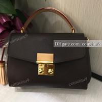Wholesale tassel handles - Free Shipping Women's Genuine Leather Shoulder Bag Brand Croisette Tassel Handbag Crossbody Bag Medium Handle Tote N41581