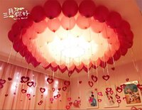 Wholesale Red Graduation Balloons - Wholesale-2018 Party Colorful Cheap Wedding Balloon 10 Inch Pearlized Round Circle Balloon 100pcs 1 Bags Pretty Decorations Free Shipping