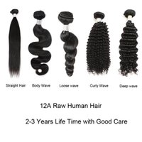 Wholesale quality curly human hair resale online - Factory Price Top A Quality Straight Body Loose Deep Curly Water Wave Raw Human Hair Bundles inch Brazilian Peruvian Malaysian Hair