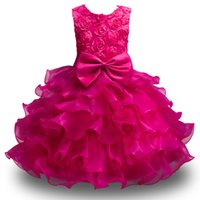 Wholesale formal christmas dresses for toddlers resale online - Kids flower girl dresses for wedding pageant first holy lace communion dress for girl toddler formal Wedding banquet dress