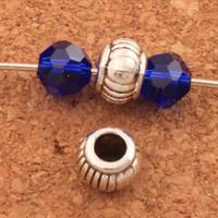 lanterna diy venda por atacado-7mm Lanterna Beads Spacers 300 pçs / lote achados de Prata tibetana buraco 3.5mm Jóias Diy Contas Soltas Hot L551