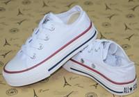 sapata baixa da menina venda por atacado-Nova marca Bebê crianças sapatos de lona moda alta - baixa sapatos meninos e meninas esportes lona crianças sapatos