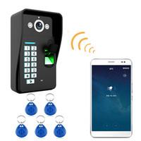 система управления rfid оптовых-HD 720P беспроводной WIFI RFID-пароль Видеодомофон домофон домофон система ночного видения водонепроницаемая система контроля доступа