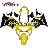 sarı renkli f4 toptan satış-Honda CBR600F4 1999 2000 CBR600 F4 Enjeksiyon Plastik ABS Motosiklet Vücut Kiti Paneli Bodywork Fairings Kiti
