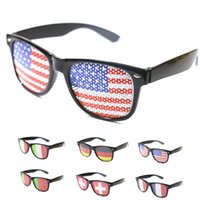 Wholesale football party favors - 2018 World Cup National Flag Glasses 2018 FIFA soccer fans eyeglass Party Favors cheerleaders Accessories cosplay football souvenir Gift