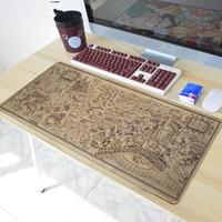 anime fareleri toptan satış-700 * 300mm eski harita Oyun Mousepad mouse pad büyük Anime Karikatür Harry Potter Mouse Pad Mat Masa Mat Kauçuk klavye