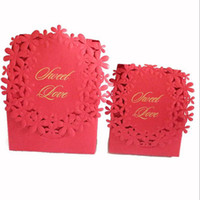 wedding party favour boxes UK - Red Colors Luxury Candy Boxes Laser Cut Sweet Boxes for Wedding Party Favour Box Party Gift Box QW7015