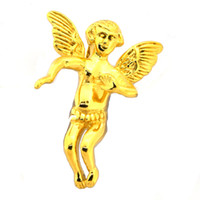 aile gardien achat en gros de-Bijoux vintage punk vintage en acier inoxydable FANSSTEEL pour hommes Guardian Angel Wings Cupidon Invisible Bbiker pendentif cadeau pour les frères FSP14W78G